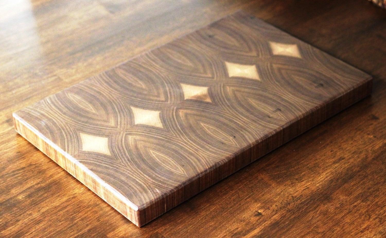 Butcher Block Cutting Boards ~ End grain walnut cutting board butcher block serving