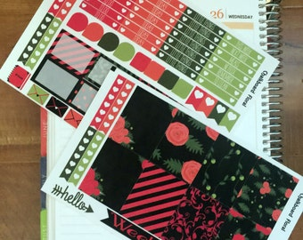 Chalkboard Floral, weekly kit sized for Erin Condren Vertical