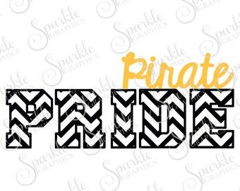 Pirate Pride Cut File Pirate svg Pirate Mascot  Mascot svg High School Clipart Svg Dxf Eps Png Silhouette Cricut Cut File Commercial Use