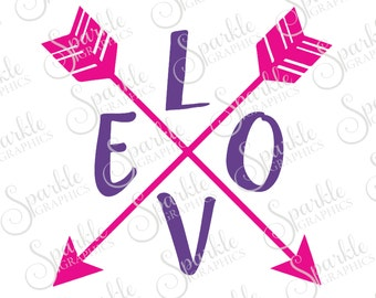 LOVE Arrow Cut File Valentines Day SVG Arrow svg Love svg Boho Aztec Baby Clipart Svg Dxf Eps Png Silhouette Cricut Cut File Commercial Use