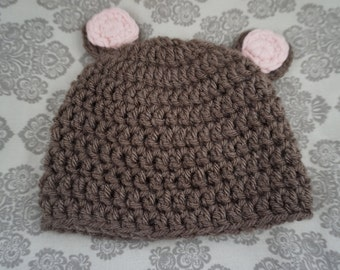 Baby Crochet Hat - With Detail