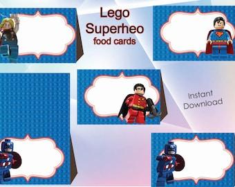 Instant DL  superhero food label, superhero bitthday,  superhero party, Printable Tags