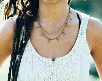 Multi strands necklace, Tribal Brass Necklace, layered Brass Necklace, Bohemian boho necklace, Beaded Brass Necklace, Ethnic Brass jewellery