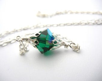 Smallville Lana Lang inspired kryptonite Necklace