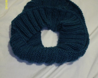 teal blue infinity scarf