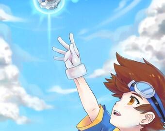 Taichi Digimon Adventure | digivice, digimon poster, digimon print, digimon art, anime poster, anime print, video game print, tai