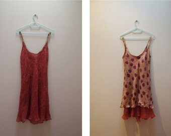 Reversible vintage boho SILK sundress