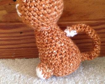 Sitting crochet cat