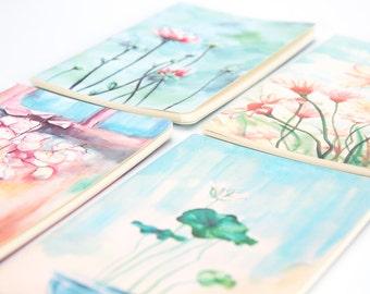 Watercolor Flower Garden Notebooks