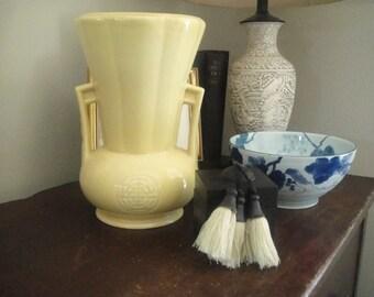 Abingdon yellow vase #103