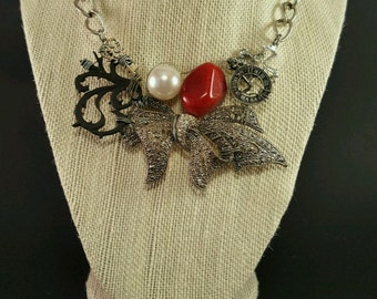 Hand wired Bow Necklace
