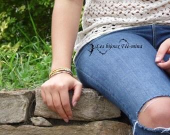 Liberty bracelet & mustard faux suede cord