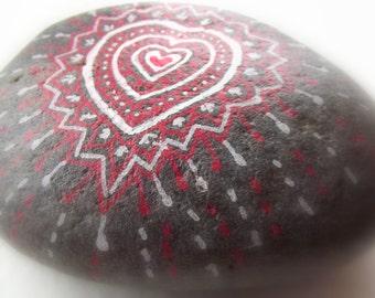 Stone with heart, Valentine, Valentine gift, gift paperweight