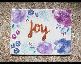 Hand Painted Decorative Tile- Joy//