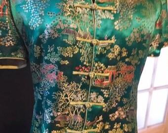 Vintage Silk Cheongsam Blouse!