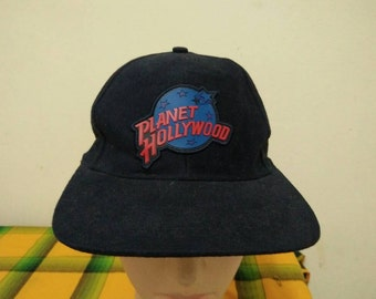 Rare Vintage PLANET HOLLYWOOD SEATTLE Cap Hat Free size fit all