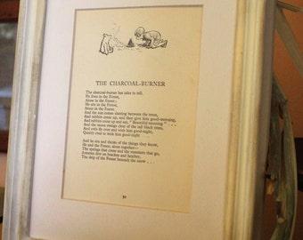 Vintage Winnie Pooh picture-original book page-