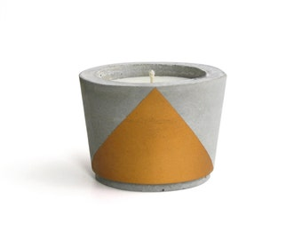Gold painted Concrete - Scented Soy Wax Candle *choose your fragrance