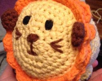 Hand-made Stuffed Lion