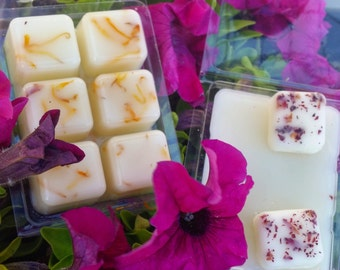 All Natural, Aromatherapy Wax Melts, Wax Tarts, Herb and Flower Wax Melts - Customize Your Own Natural Wax Melt