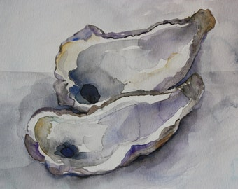 Original Oysters Watercolor