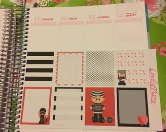 Planner Stickers: Valentine Bandits Full boxes stickers