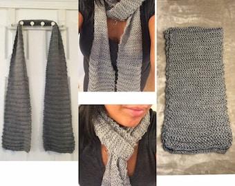 Gray handmade scarf