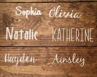 Word Decal | Personalized Name Decal | Vinyl Word Decal