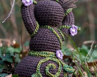 Earth Goddess crochet doll