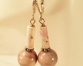 Earrings, Rhodolite Stones