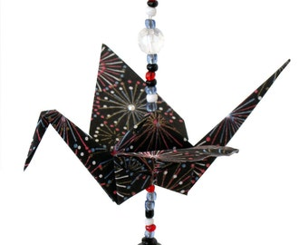 "Beaded Crane ""Fireworks"" pattern"