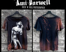 Official 'By Ami Barwell' IGGY POP Limited Edition Custom Distressed T-Shirt, 100% Cotton Ethical Trade, Unisex Size XS