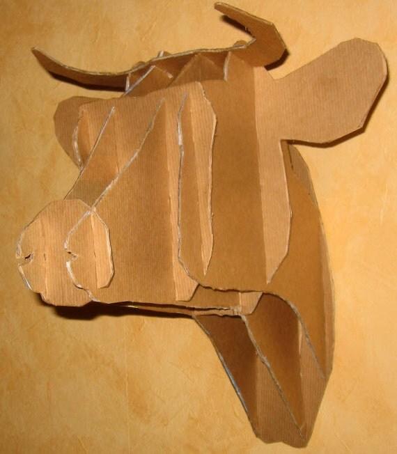 troph t te de vache cow head trophy. Black Bedroom Furniture Sets. Home Design Ideas