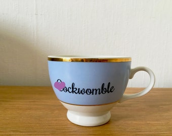 C*ckwomble | Custom Made To Order  Swear Teacup | Funny Rude Insult Obscenity Profanity | Unique Gift Idea