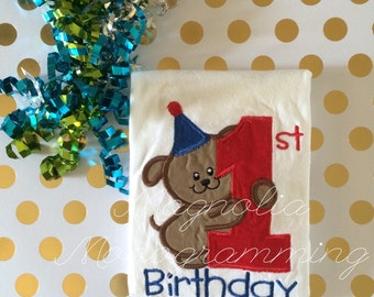 Puppy 1st Birthday Shirt