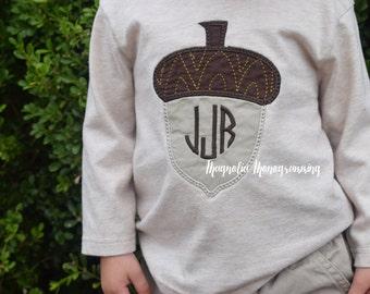 Fall Acorn Applique Shirt