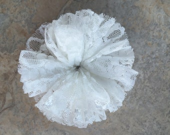 Lace Ballerina Flowers, WHITE, lace flowers, white ballerina flowers, white wedding flowers, white lace, white lace flowers, lace material f