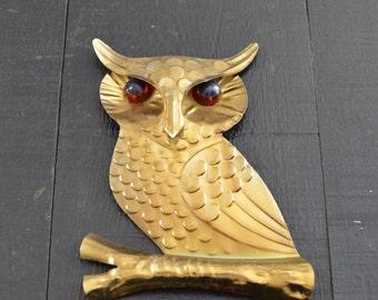 Metal Owl Wall Decor / Gallery Wall Decor / Rustic Woodsy Decor