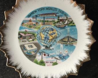 NewYork World Fair Souvenir Plate