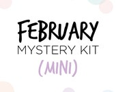 Mini/Personal February Mystery Kit Presale // Matte Functional Sticker Kit // M02