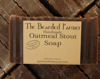 Oatmeal Stout Natural Soap - The Bearded Farmer