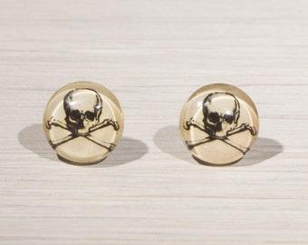 Skull and crossbones Stud Earrings