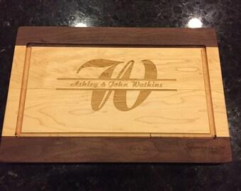 Maple and walnut cutting board