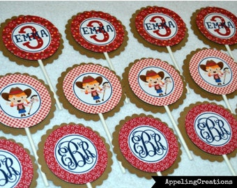 Cowgirl Cupcake Toppers, Cowgirl Birthday Party, Cowgirl Tags, Cowgirl Up, Cowgirl Birthday, Western Party, cupcake toppers, cowgirl cupcake