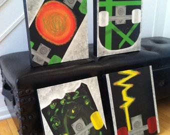Boy room ideas.  wall decor,  Skateboard artwork for boy room,  Girl room decor,  Skateboard paintings for boy room, Wall art for boy room