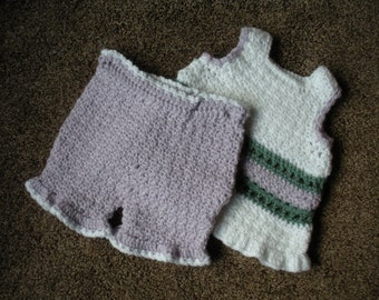 Jumper and pantalettes size 12 to 18 months B0055