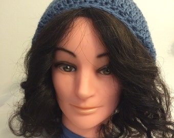 """New """"Homemade"""" crochet hat, one size fit most."""
