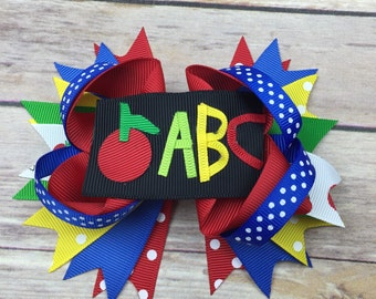 ABC Back to School Boutique Style Bow