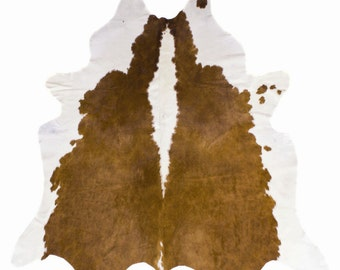 Brown & White Cowhide Rug - 6x6'