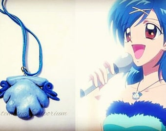 Necklace cosplay Hanon-Mermaid Melody (Pichi Pichi) Pichi seashell seashell princess blue